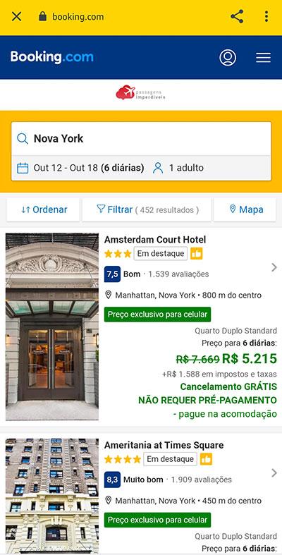 reservar hotel app passagens executivas